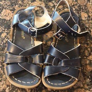 Saltwater navy sandals!